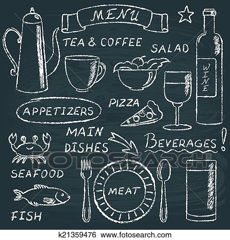 Chalkboard Art Elements Clip Art Chalkboard Menu
