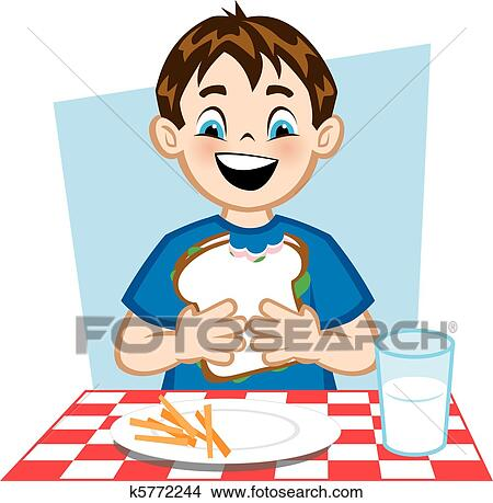 Clipart of Good Lunch k5772244 - Search Clip Art ...