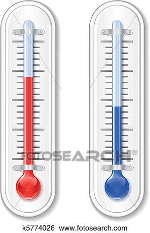 Clipart thermom tre ext rieur k5774026 recherchez des for Thermometres exterieurs