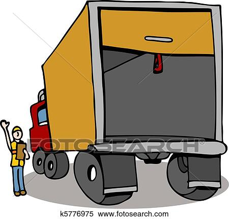Clipart of Truck Safety Inspection k5776975 - Search Clip Art ...