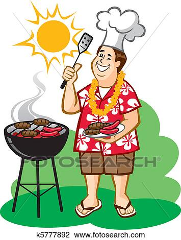 Clipart of Dad's Barbecue (BBQ) k5777892 - Search Clip Art ...