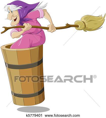 бабка ежка фиолетавая рисунок исподнее белье