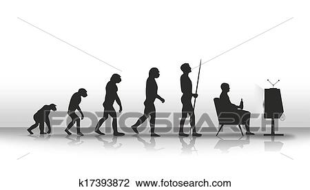 Clip Art of evolution k17393872 - Search Clipart, Illustration ...