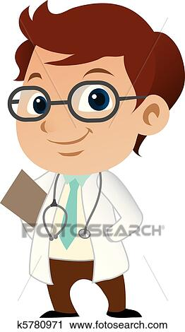 clipart of cute little male doctor k5780971 search clip