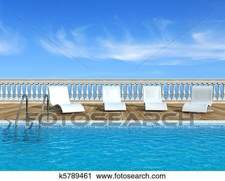 Clipart luxe piscine k5789461 recherchez des clip - Clipart piscine ...