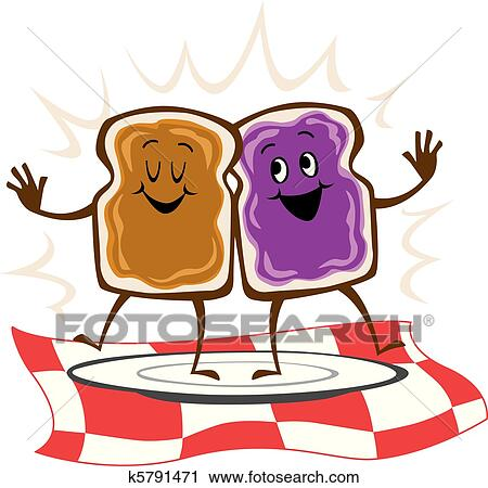 clipart of peanut butter jelly sandwich k5791471 search clip art rh fotosearch com Peanut Butter and Jelly Sandwich peanut butter and jelly sandwich black and white clipart
