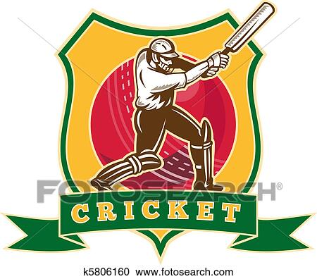 Drawing of cricket batsman batting k5489243 - Search Clipart ...