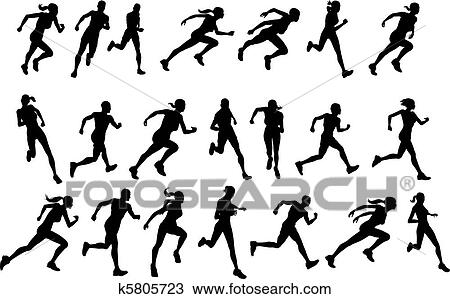 clipart of runners running silhouettes k5805723 search clip art rh fotosearch com animated clipart of runners clip art of running egg