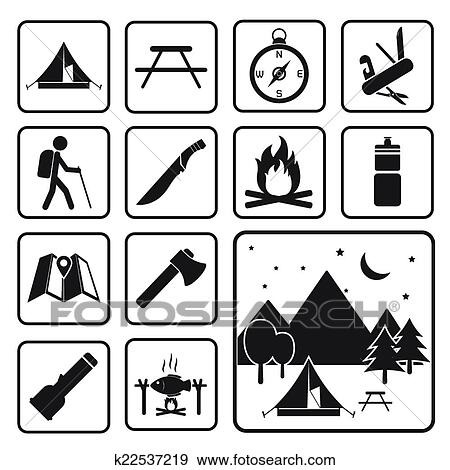 Clip Art Of Camping Equipment Icon K22537219
