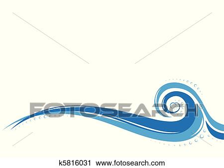 Clipart of Aqua waves background k5816031 - Search Clip Art ...
