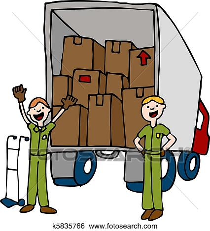 clip art of friendly moving company k5835766 search clipart rh fotosearch com friendly bulldog clipart eco friendly clipart