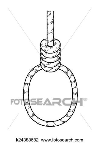 clipart of hangman s noose k24388682 search clip art illustration rh fotosearch com moose clip art silhouette nose clip art free