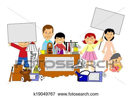 banque d 39 illustrations yard et brocante domicile k19049767 recherche de cliparts au format. Black Bedroom Furniture Sets. Home Design Ideas