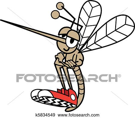 Mosquito Wearing Shoes