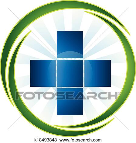 Clip Art Of Medical Symbol Icon Logo Vector K18493848 Search