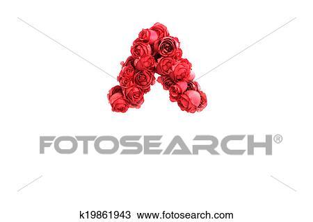 手绘图 - 红的玫瑰花,