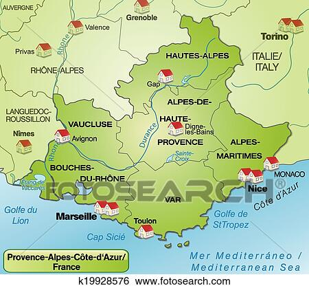 clip art of map of provence alpes cote d azur k19928576 search clipart illustration posters. Black Bedroom Furniture Sets. Home Design Ideas