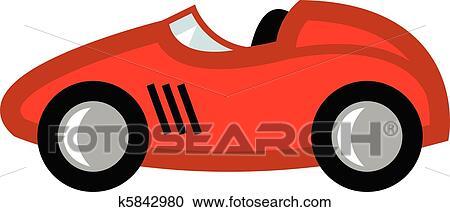 clipart voiture course dessin anim