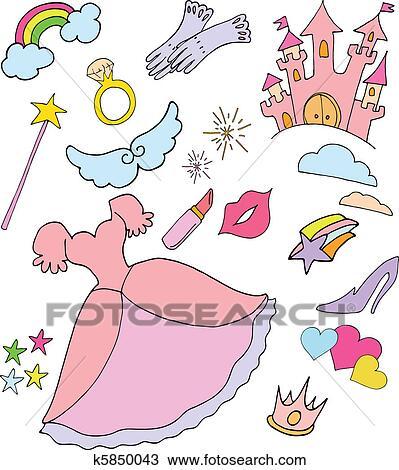 手绘图 公主, 世界