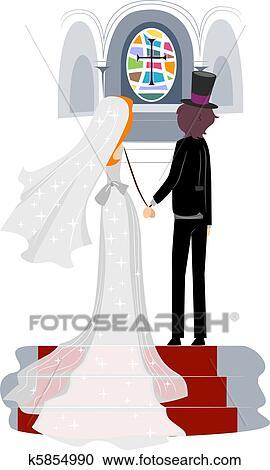 banque d 39 illustrations glise mariage k5854990 recherchez des cliparts des illustrations. Black Bedroom Furniture Sets. Home Design Ideas