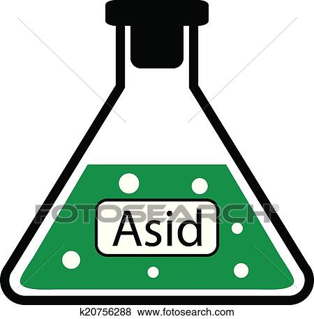 Clip Art of Laboratory glass with asid k20756288 - Search ...