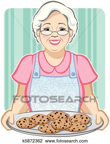 Clipart of Grandma's Cookies k5872362 - Search Clip Art ...
