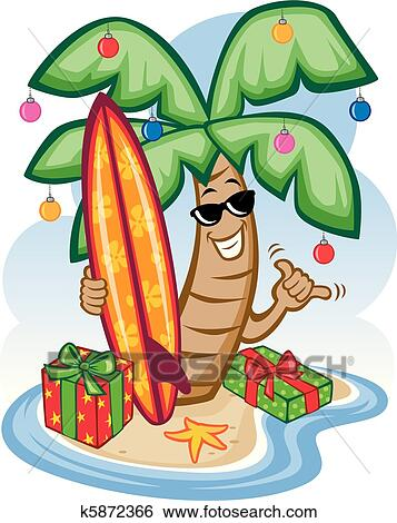 clip art of tropical christmas k5872366 search clipart rh fotosearch com christmas food clipart free christmas food basket clipart
