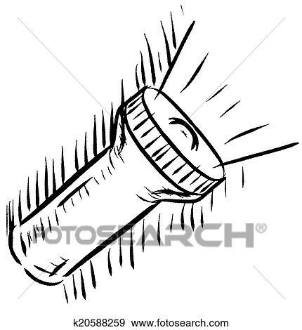 Taschenlampe clipart  Clip Art - taschenlampe, symbol k20588259 - Suche Clipart, Poster ...