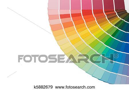 Stock fotografie kleur gids voor selectie ge soleerde op wit achtergrond k5882679 zoek - Kleur selectie ...