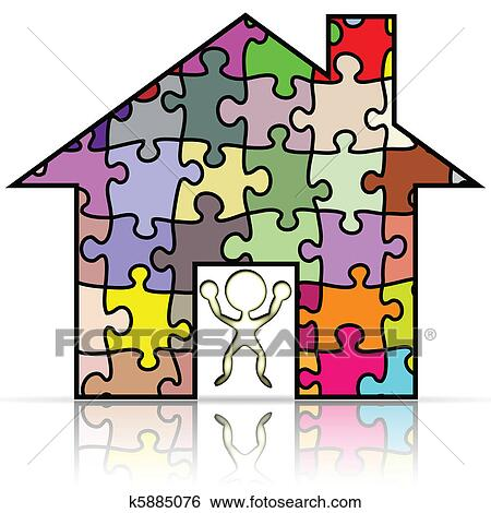 剪贴画 我的房子, 难题