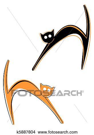 手绘图 - 猫