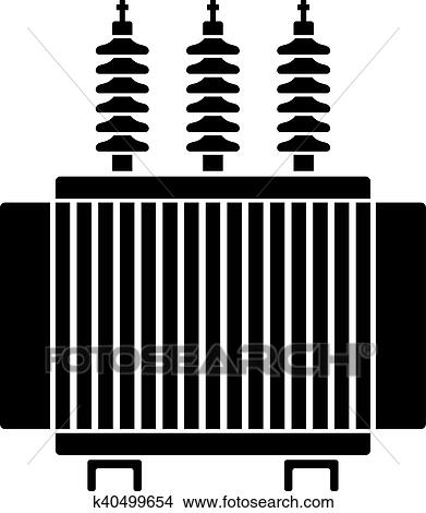 clipart of high voltage electrical transformer black symbol rh fotosearch com transformer clipart black and white bumblebee transformer clipart