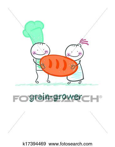 剪贴画 - 粮食, 种植者