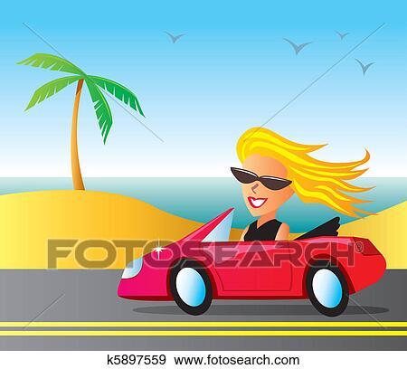 Heißes Mädchen in Autos