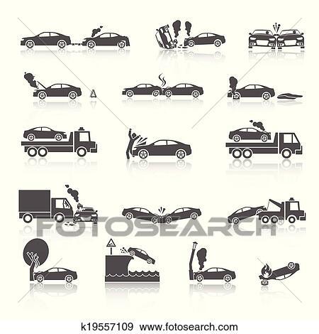 Clipart noir blanc accident voiture ic nes k19557109 recherchez des cliparts des - Coloriage cars accident ...