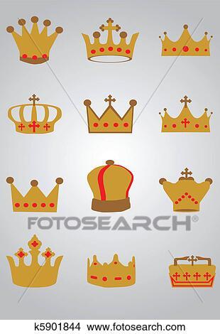 手绘图 - 王冠, 放置