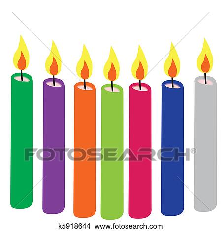 clipart of candles colorful k5918644 search clip art illustration rh fotosearch com clip art candle flame clipart candles black and white