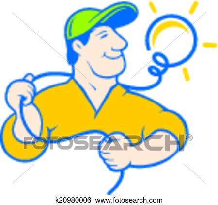 clip art of electrician corporate logo k20980006 search clipart rh fotosearch com electrical clip art free electrical clip art electricity