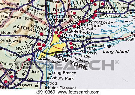 创意摄影图片库 - 纽约地图