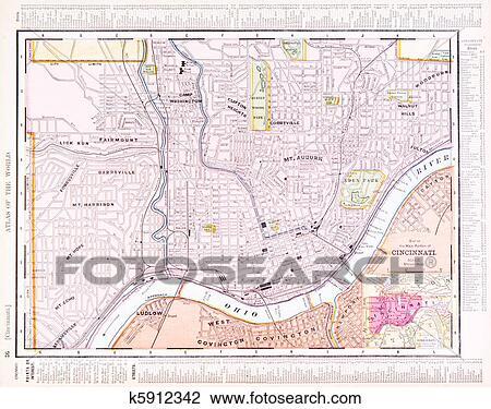 Map Of Cincinnati Ohio Usa description map showing the location