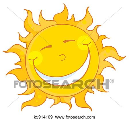 剪贴画 - 太阳, 微笑