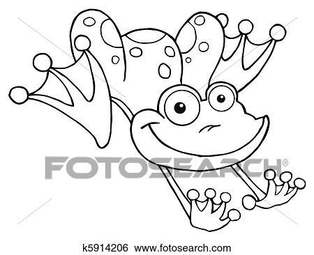 贴画 概述, 青蛙, 跳跃, 青蛙