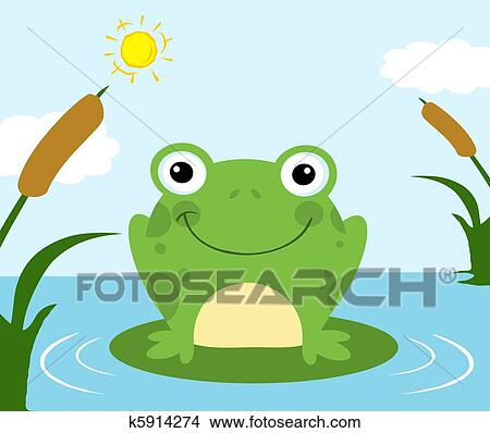 剪贴画 青蛙, 卡通漫画, 性格