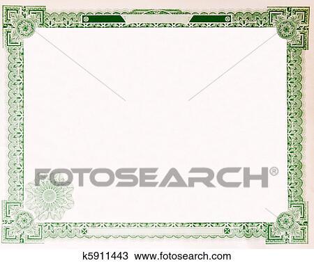 stock certificate border