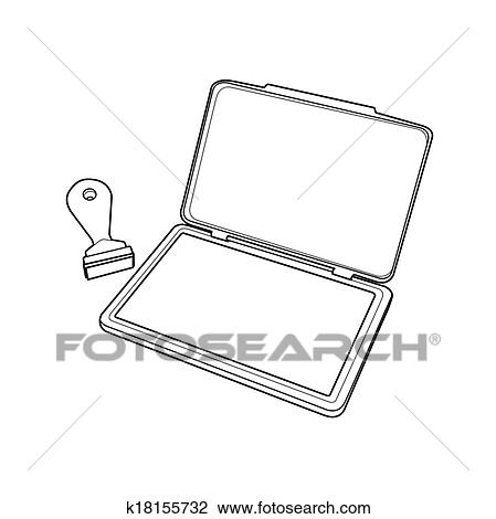 Pads Clipart Clipart Ink Pad With Rubber
