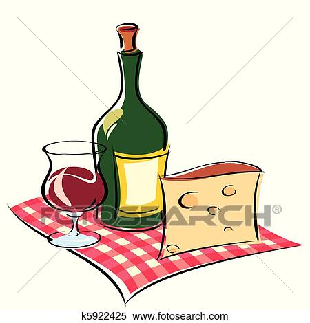 clipart of wine k5922425 search clip art illustration murals rh fotosearch com french wine and cheese clipart french wine and cheese clipart