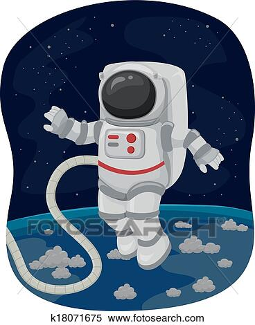 astronauts in space clipart - photo #40