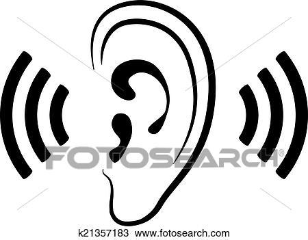 Clipart oreille ic ne k21357183 recherchez des clip - Clipart oreille ...