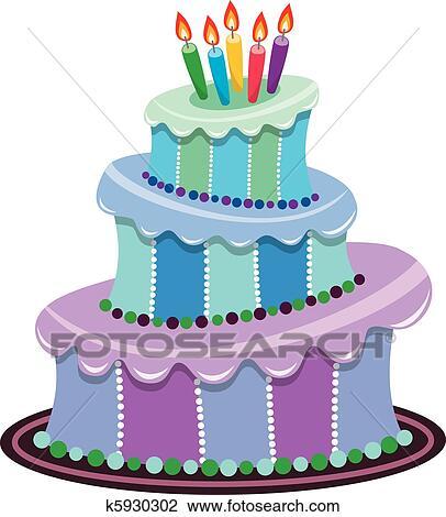 剪贴画 大, 生日蛋糕