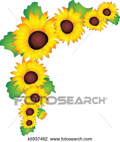 剪贴画 向日葵, 矢量